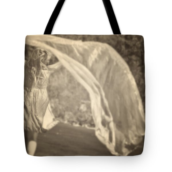 Woman With Veil Tote Bag by Joana Kruse