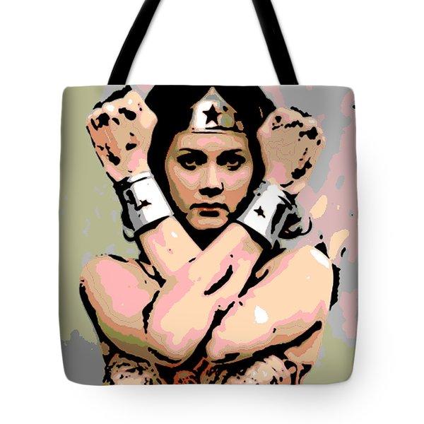 Wonder Woman Tote Bag by George Pedro
