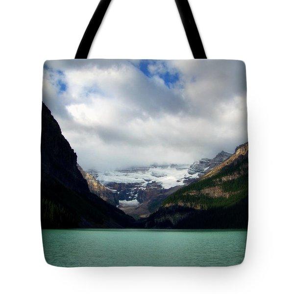 Wonderland Of Lake Louise Tote Bag by Karen Wiles