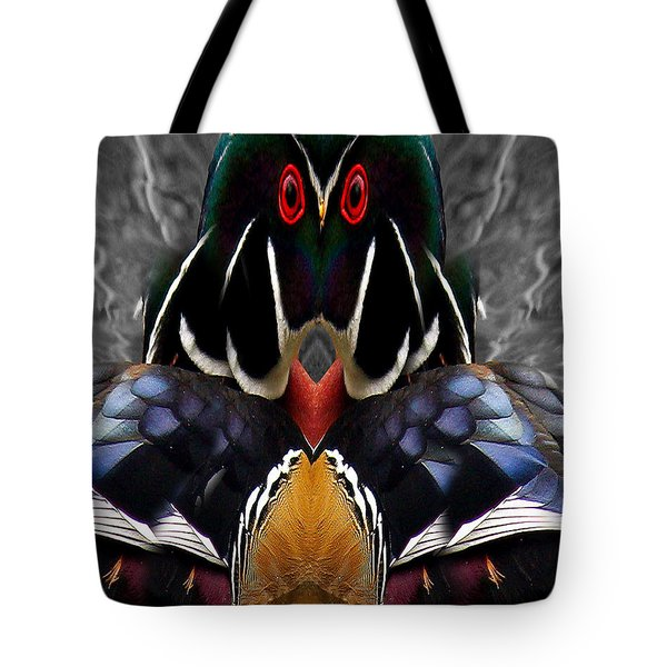 Wood Owl Tote Bag by Jean Noren
