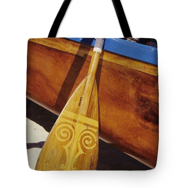 Wooden Paddle And Canoe Tote Bag by Joss - Printscapes