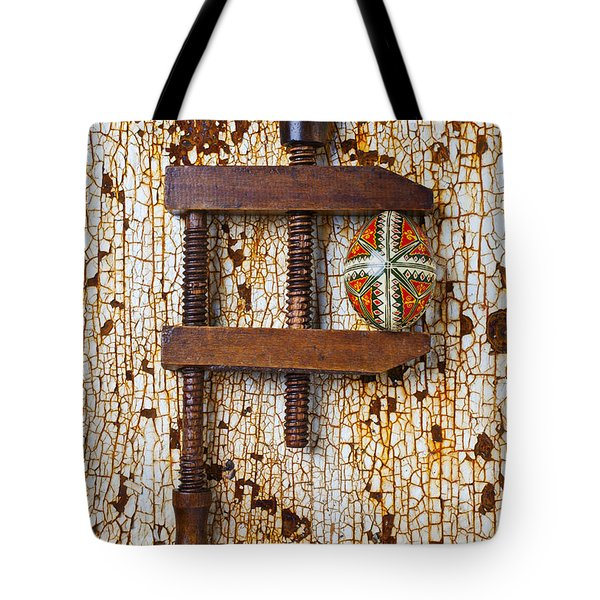 Wooden Vce and Easter Egg Tote Bag by Garry Gay