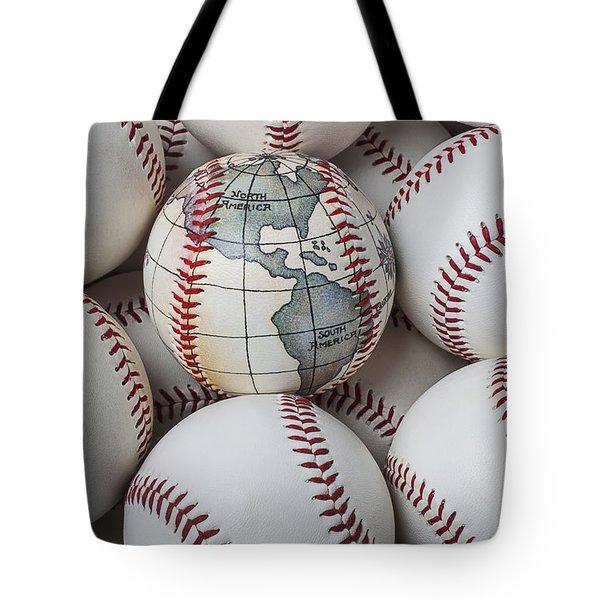World Baseball Tote Bag by Garry Gay