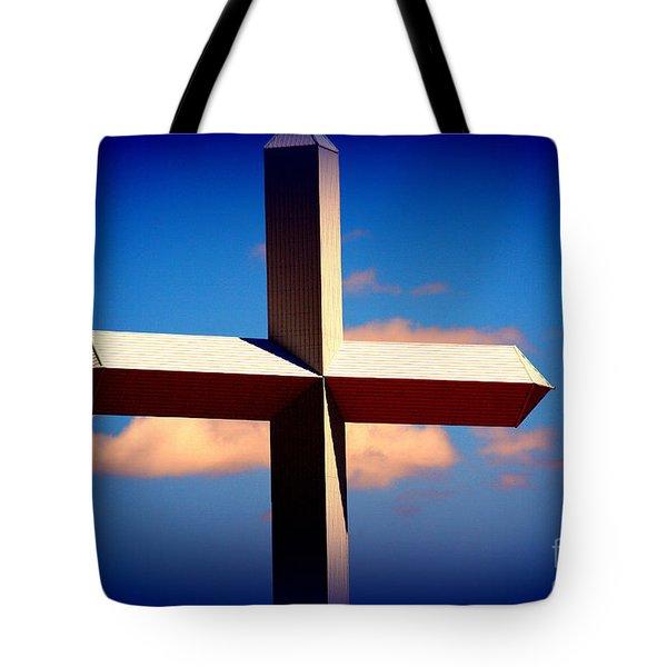 World Largest Cross In Illinois  Tote Bag by Susanne Van Hulst