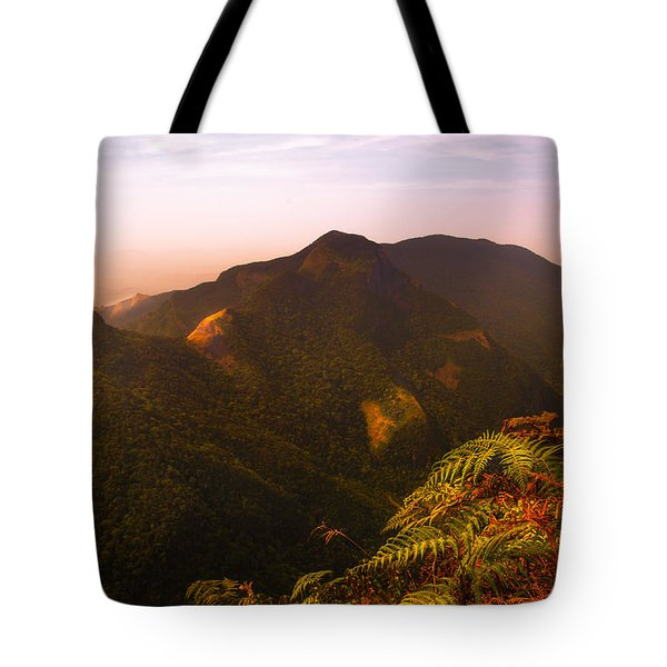 Worlds End. Horton Plains National Park I. Sri Lanka Tote Bag by Jenny Rainbow