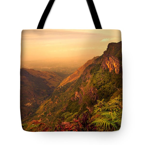 Worlds End. Horton Plains National Park. Sri Lanka Tote Bag by Jenny Rainbow