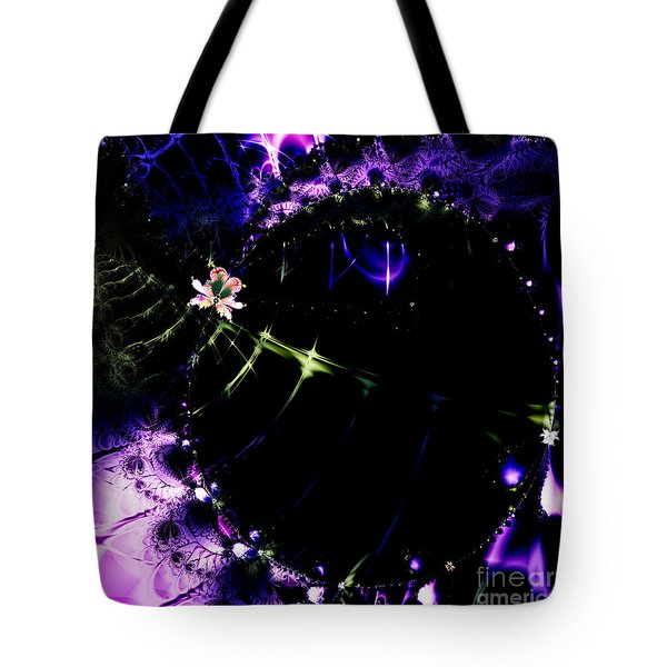 Wormhole Beyond . Square . S4a.S10 Tote Bag by Wingsdomain Art and Photography