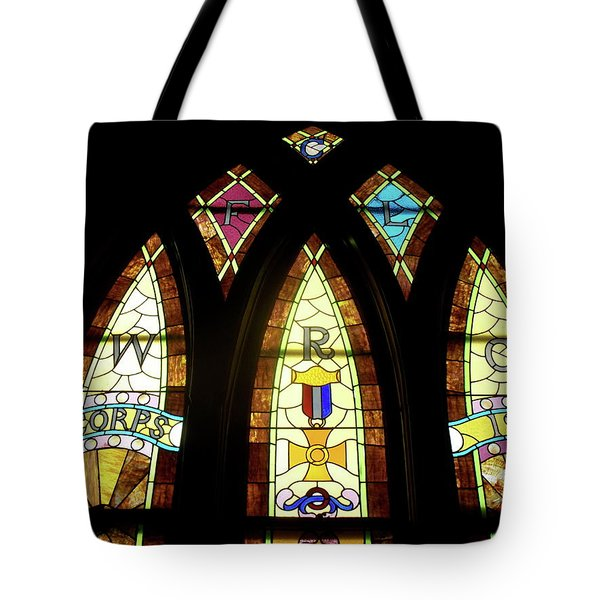 Wrc Stained Glass Window Tote Bag by Thomas Woolworth
