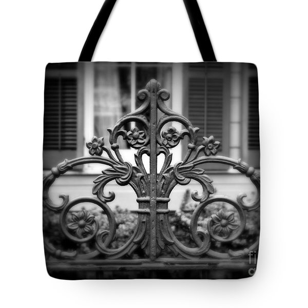 Wrought Iron Detail Tote Bag by Perry Webster