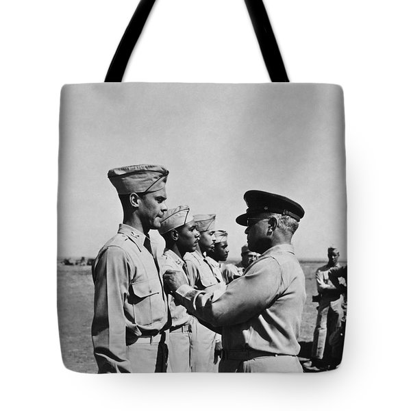 Wwii: Flying Cross Awards Tote Bag by Granger