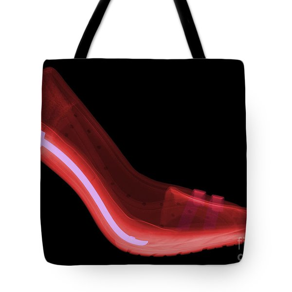 X-ray Of High Heel Shoes Tote Bag by Ted Kinsman