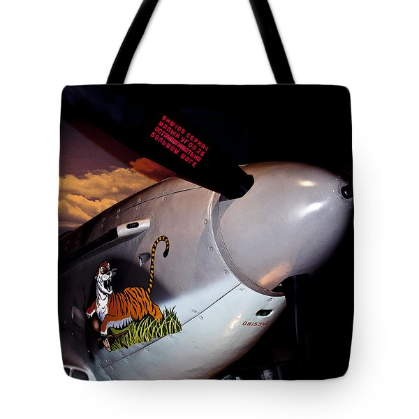 Yakovlev Yak-9u Frank Tote Bag by David Patterson