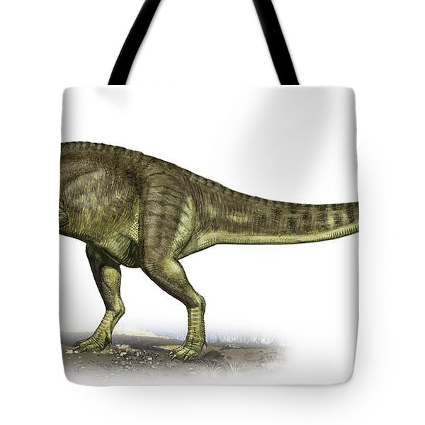 Yangchuanosaurus Shangiouensis Tote Bag by Sergey Krasovskiy