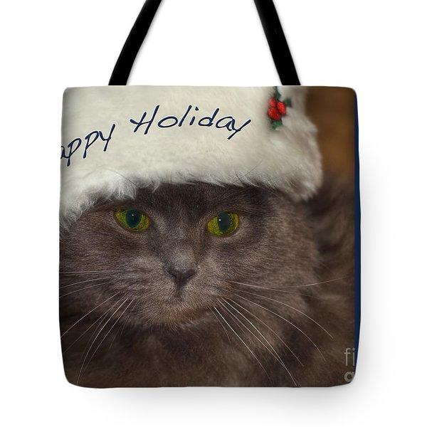 Yankee Cat Tote Bag by Joann Vitali