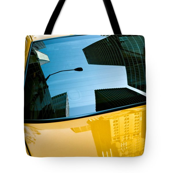 Yellow Cab Big Apple Tote Bag by Dave Bowman