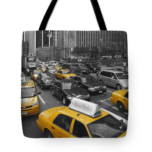 Yellow Cabs NY Tote Bag by Melanie Viola