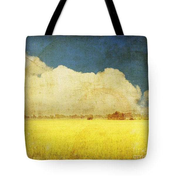 Yellow field Tote Bag by Setsiri Silapasuwanchai