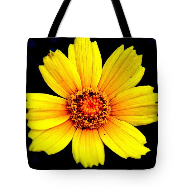 Yellow Flower Tote Bag by Marty Koch