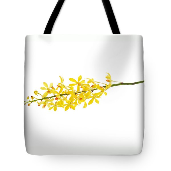 Yellow Orchid Bunch Tote Bag by Atiketta Sangasaeng