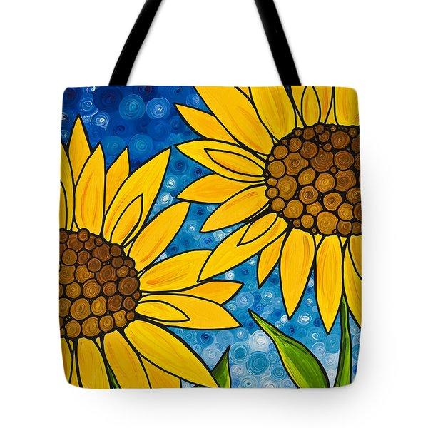 Yellow Sunflowers Tote Bag by Sharon Cummings