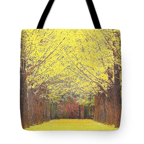 Yellow Trees Tote Bag by Kume Bryant