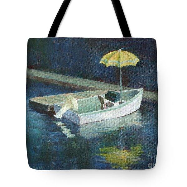 Yellow Umbrella Tote Bag by Claire Gagnon