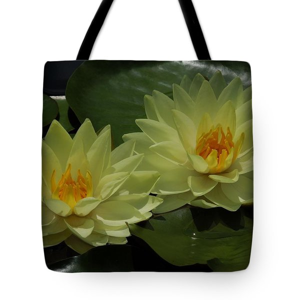 Yellow Water Lilies Tote Bag by Chad and Stacey Hall