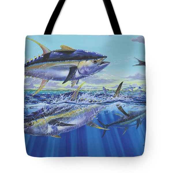 Yellowfin Bust Tote Bag by Carey Chen