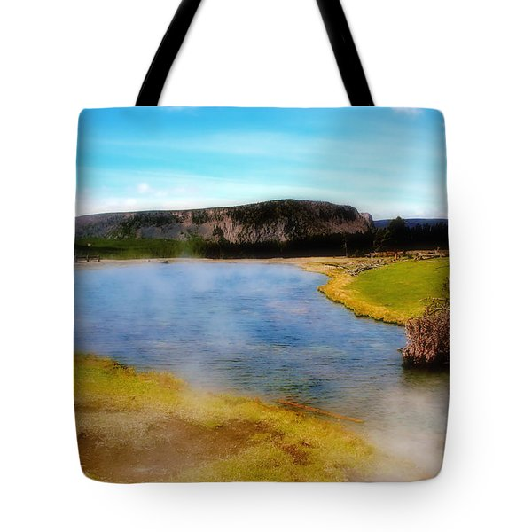 Yellowstone Landscape Tote Bag by Ellen Heaverlo