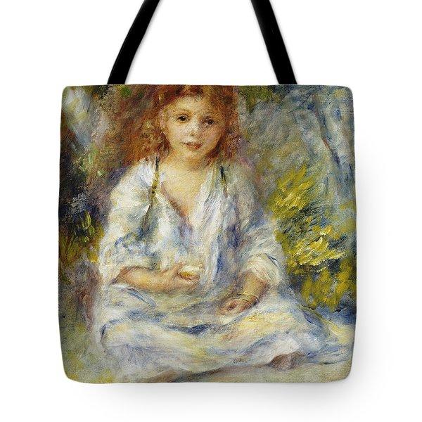 Young Algerian Girl Tote Bag by Pierre Auguste Renoir