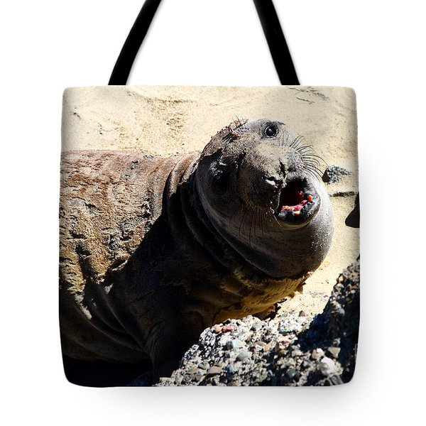 Young Elephant Seal Molting . 7D16100 Tote Bag by Wingsdomain Art and Photography