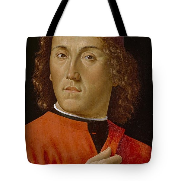 Young Man  Tote Bag by Domenico Ghirlandaio