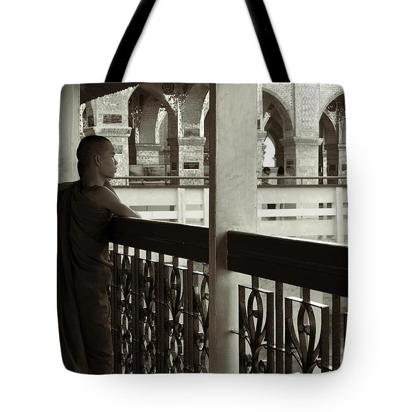 Young Monks In Mandalay Hill Tote Bag by RicardMN Photography