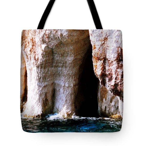 Zakynthos Grotte Greece Tote Bag by Colette V Hera  Guggenheim