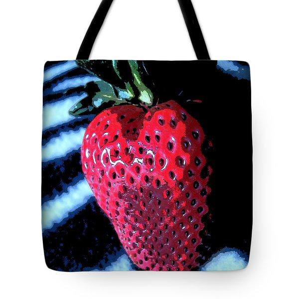 Zebra Strawberry Tote Bag by Kym Backland