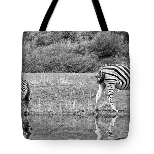 Zebras Tote Bag by Lynn Bolt