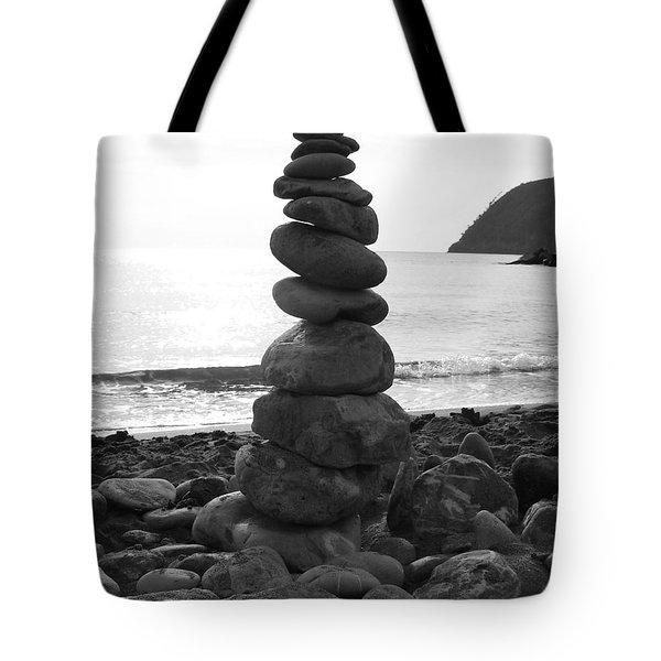 Zen Tower Tote Bag by Ramona Johnston