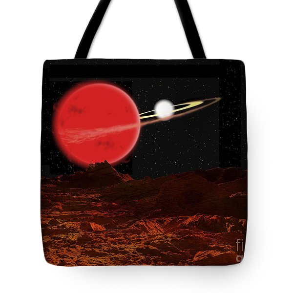 Zeta Piscium Is A Binary Star System Tote Bag by Ron Miller