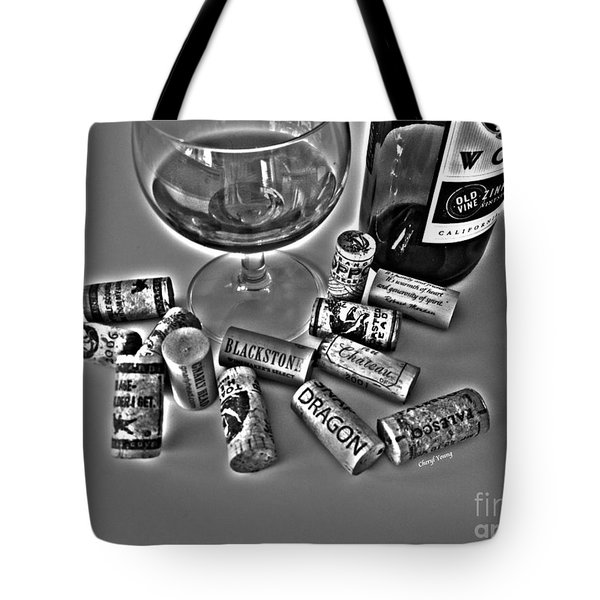Zin Black And White Tote Bag by Cheryl Young