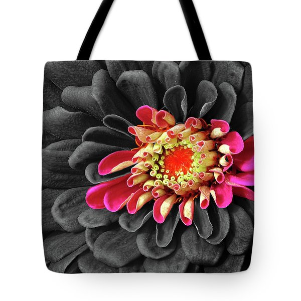 Zinnia Tote Bag by Dave Mills