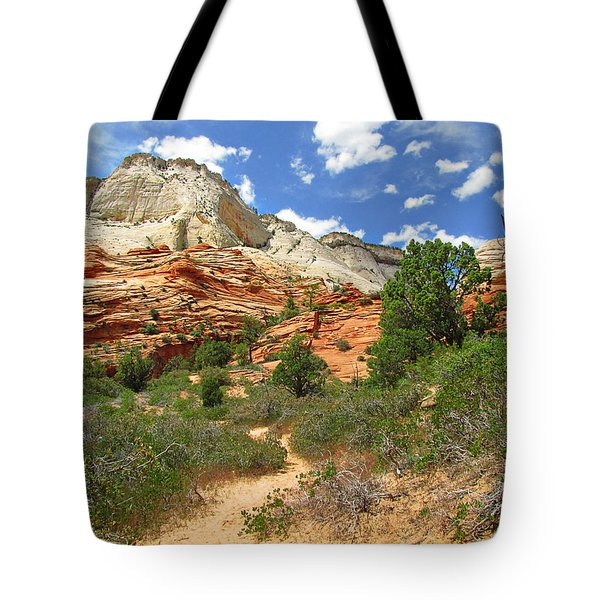 Zion National Park - A Picturesque Wonderland Tote Bag by Christine Till
