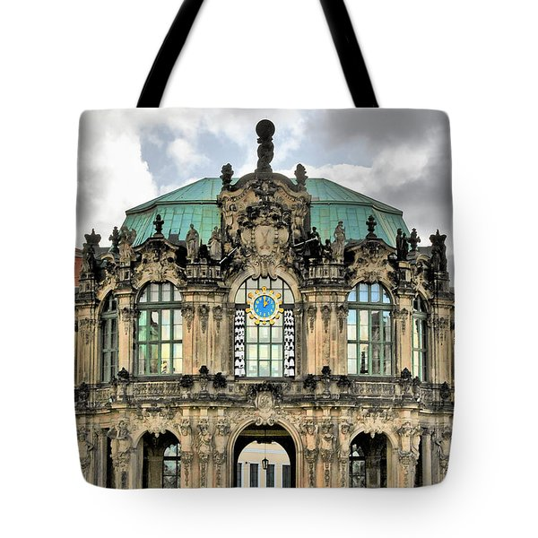 Zwinger Dresden - Carillon Pavilion - Caution Fragile Tote Bag by Christine Till