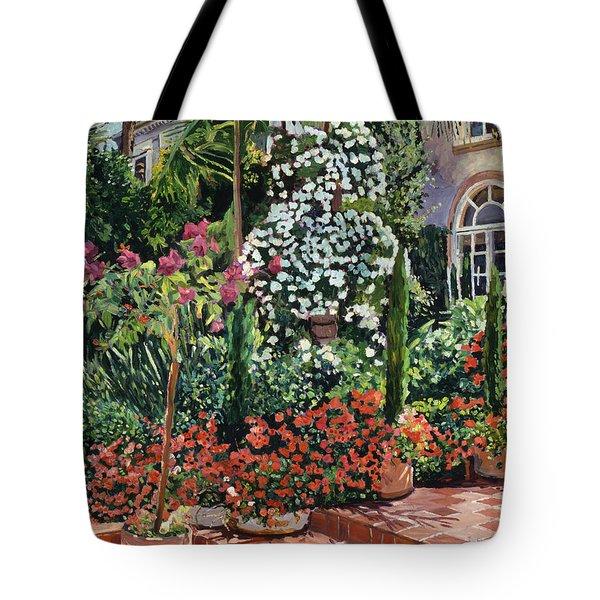 A Garden Approach Tote Bag by David Lloyd Glover