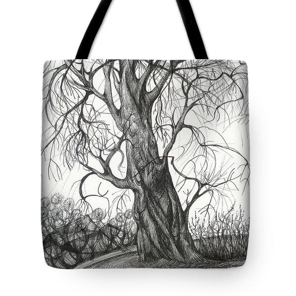 Autumn Dancing Tree Tote Bag by Anna  Duyunova