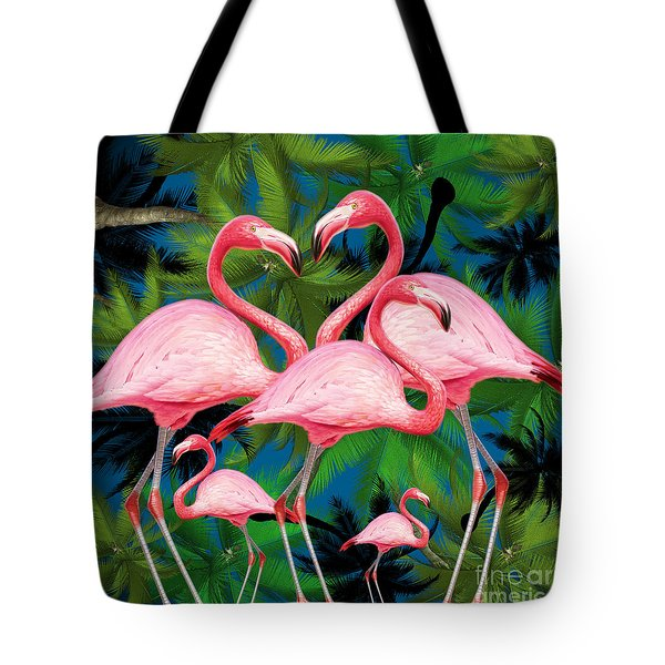 Flamingo Tote Bag by Mark Ashkenazi