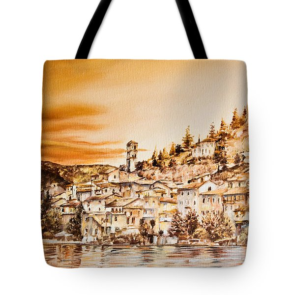 Golden Reflections Tote Bag by Michel Angelo Rossi