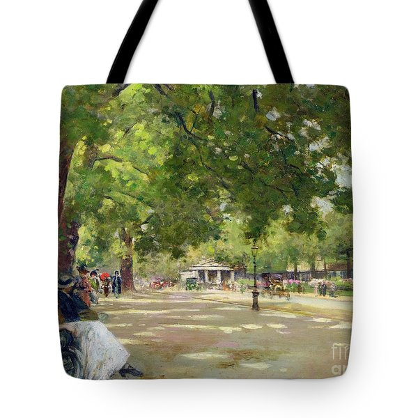 Hyde Park - London Tote Bag by Count Girolamo Pieri Nerli