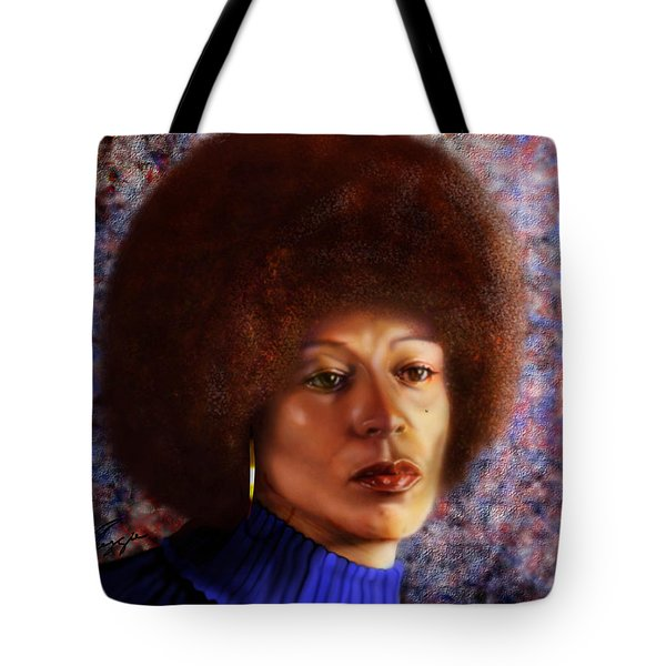 Impassable Me - Angela Davis1 Tote Bag by Reggie Duffie