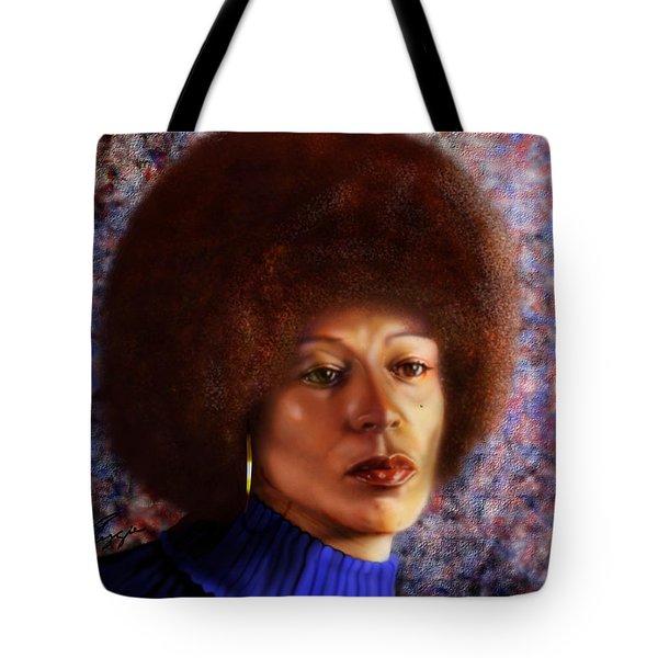 Impassable Me - Angela Davis1 Tote Bag by Reggie Duffie