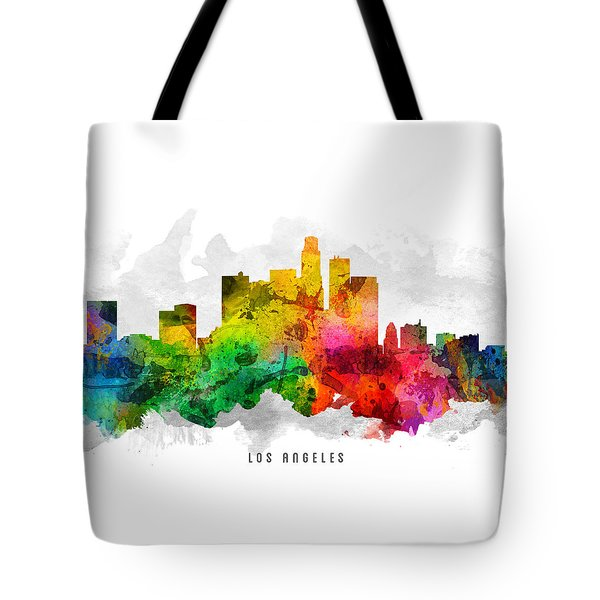 Los Angeles California Cityscape 12 Tote Bag by Aged Pixel